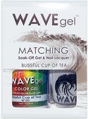 WaveGel Matching S/O Gel & Nail Lacquer - BLISSFUL CUP OF TEA .5oz W183
