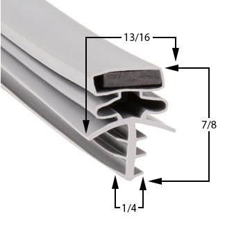 Profile 301 - Custom Upright Door Gasket
