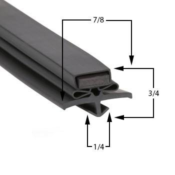Profile 016 - Custom Undercounter Door Gasket