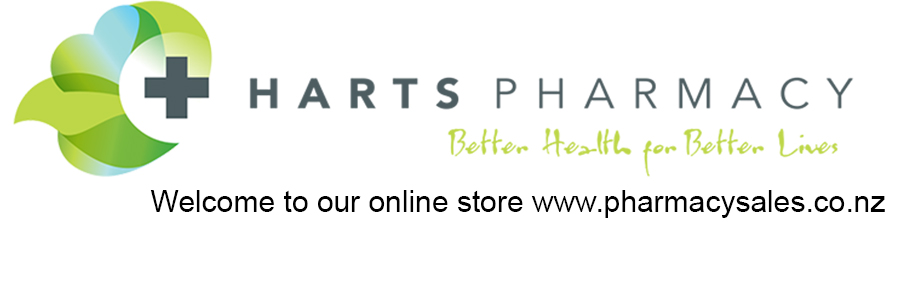 Harts Pharmacy Logo Welcome to our online store www.pharmacysales.co.nz