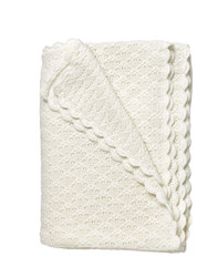 Baby's Lace Blanket Winter White