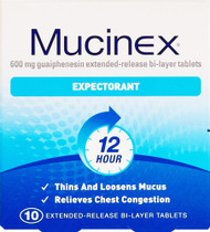 Mucinex® Expectorant 10 Tablets