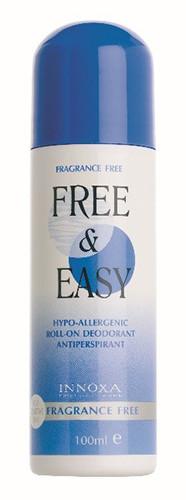 Innoxa Free & Easy Fragrance Free Deodorant Roll-on 100ml