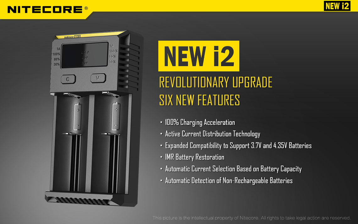 New Nitecore Intellicharger i2
