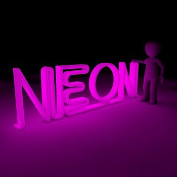 "NEON Sign Vinyl Sheet (12"" x 12"")"