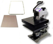 The DC16C heat press set-up