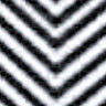 "Fashion Black Chevron 15"" x 5yd"