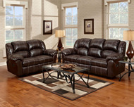 Brandon Brown Reclining Sofa & Loveseat