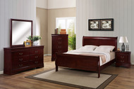 Cherry Finish Louie Philippe Suite
