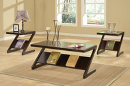 3 pc Zachary coffee & end tables