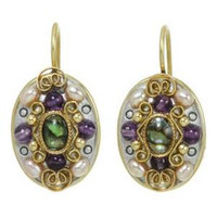 MICHAL GOLAN VINTAGE VIOLET EARRINGS S7220