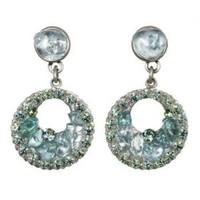 Michal Golan Aqua Marine Crystal Earrings S7214