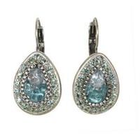 Michal Golan Aqua Marine Crystal Earrings S7210