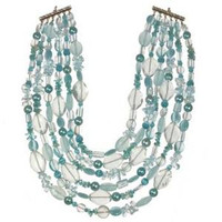 Michal Golan Aqua Marine Crystal Necklace N2250