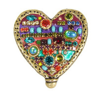 Michal Golan Multi Bright Heart Brooch