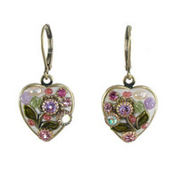 Michal Golan Pearl Blossom Heart Earrings