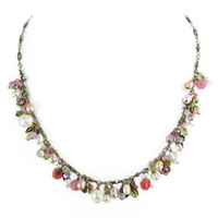 Michal Golan Pearl Blossom Necklace