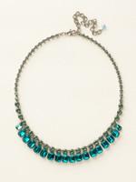 Sorrelli Sea Glass Crystal Necklace~NCW7ASSGL