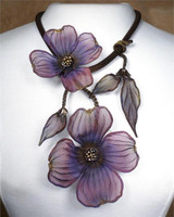SARAH CAVENDER FLORAL NECKLACE~22164B