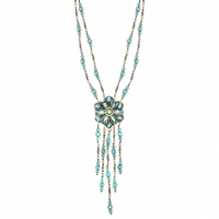 Michal Golan Atlantis Collection - Flower Pendant on Double-beaded Chain Necklace ~ N3397