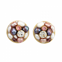 Michal Golan Constellation Collection Round Earrings ~ S8016
