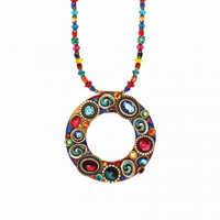 Michal Golan Confetti Collection - Hoop Pendant Necklace ~ N3139