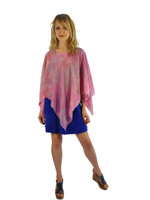Hand Painted Silk Poncho~Franklin Street Studio~FS1008