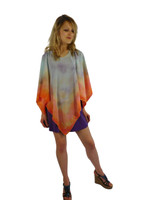 Hand Painted Silk Poncho~Franklin Street Studio~FS1014