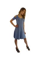 Luna Luz Positano Off The Shoulder  Dress~Paris Blue~360PB