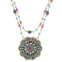 Michal Golan Blue Flower Necklace