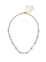 ***SPECIAL ORDER***DENIM BLUE Crystal Necklace by Sorrelli~NDM46AGSMR
