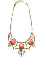 CORAL REEF CRYSTAL NECKLACE BY SORRELLI ~NCQ19BGCOR