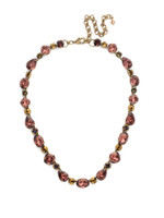 Mahogany Crystal Statement Necklace~NDQ37AGM