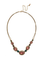 Mahogany Crystal Statement Necklace~NDQ10AGM