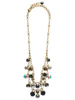 Sorrelli Evening Moon Swarovski Crystal Necklace NCF23AGEM