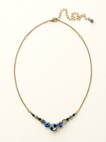 **SPECIAL ORDER**DRESS BLUES CRYSTAL NECKLACE BY SORRELLI~NCQ14AGDBL