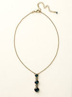 **SPECIAL ORDER**DRESS BLUES CRYSTAL NECKLACE BY SORRELLI~NCF21AGDBL