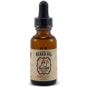 AJ's Elixirs Beard Oil in Forest Mint conditions and benefits both skin and hair.