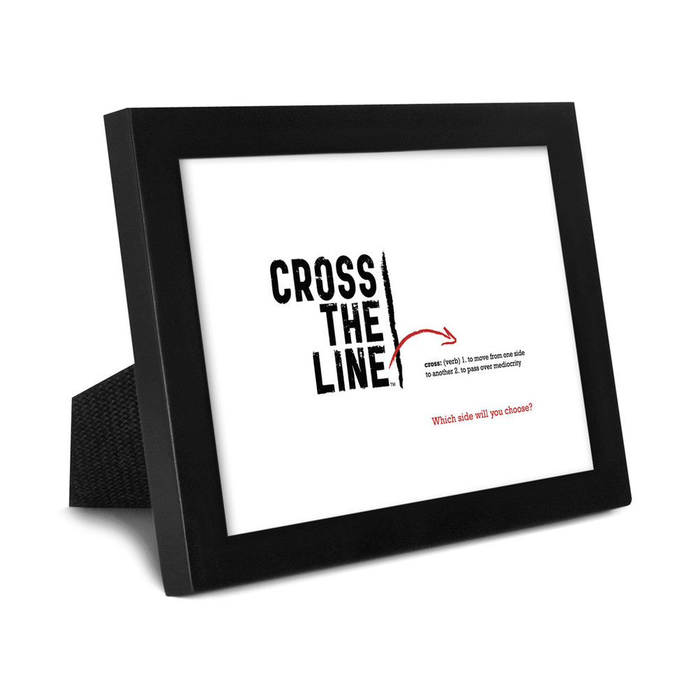 Cross The Line 5x7 Framed Print (white) - Original Version