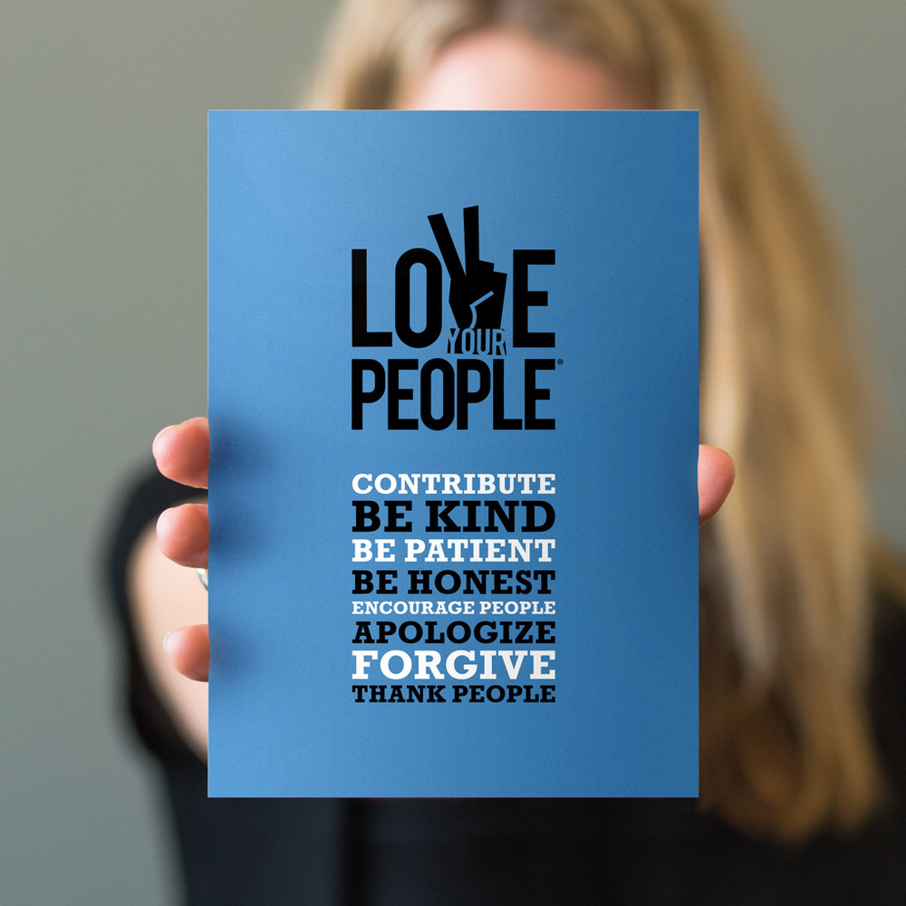 Love Your People 5 in. x 7 in. Prints - blue