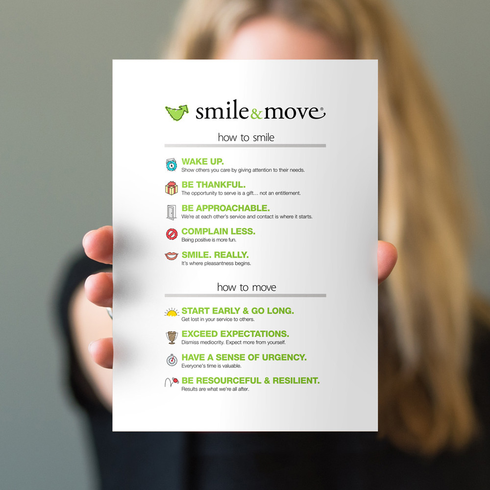 Smile & Move 5x7 Prints - white