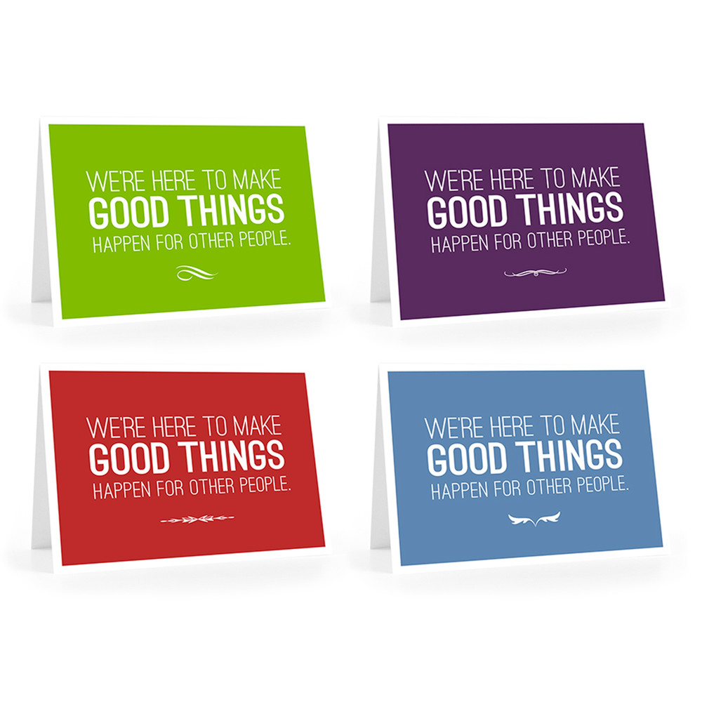 Make Good Things Happen Cards - We're here combo pack