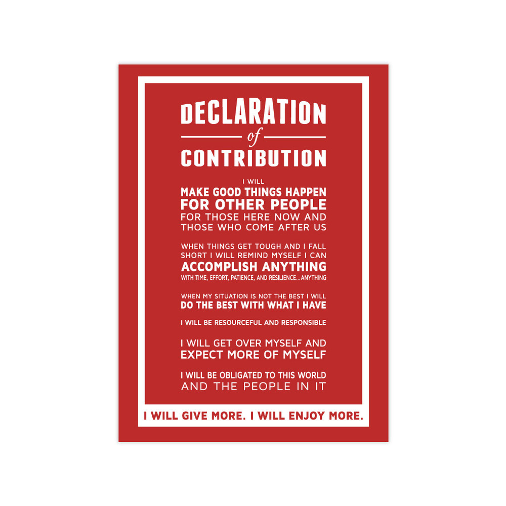 Declaration of Contribution 5x7 Prints - red