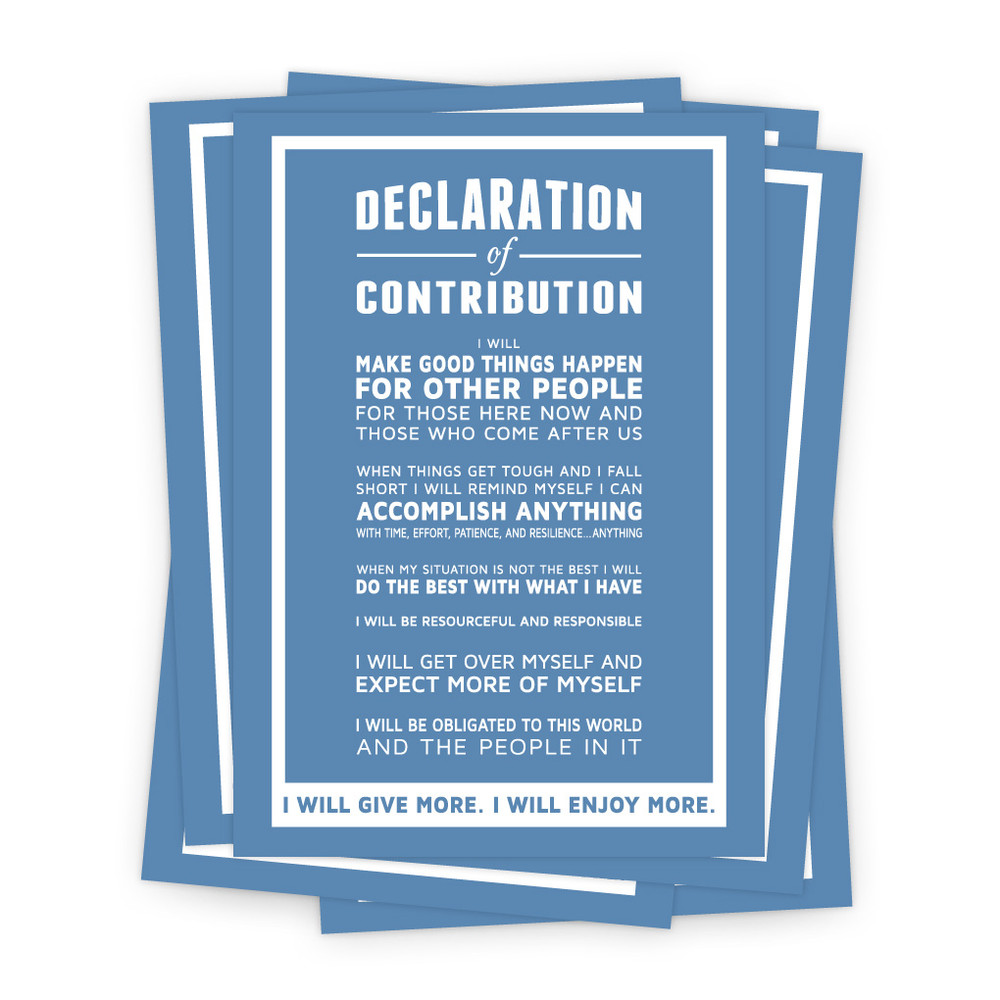 Declaration of Contribution 5x7 Prints - blue