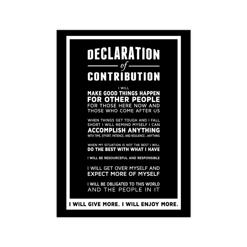 Declaration of Contribution 5 in. x 7 in. Prints - black