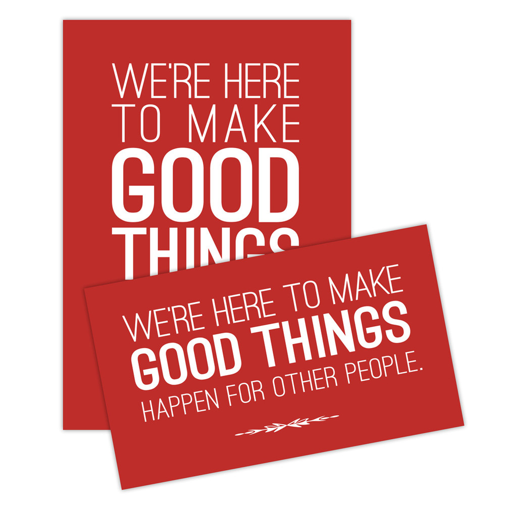 Make Good Things Happen Sticker Set - red