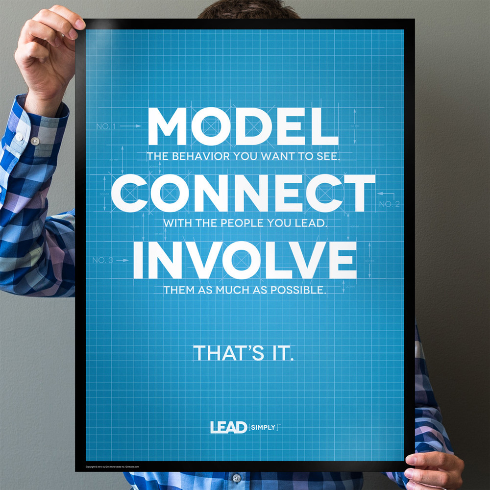 Lead Simply 18 in. x 24 in. Poster (blueprint)