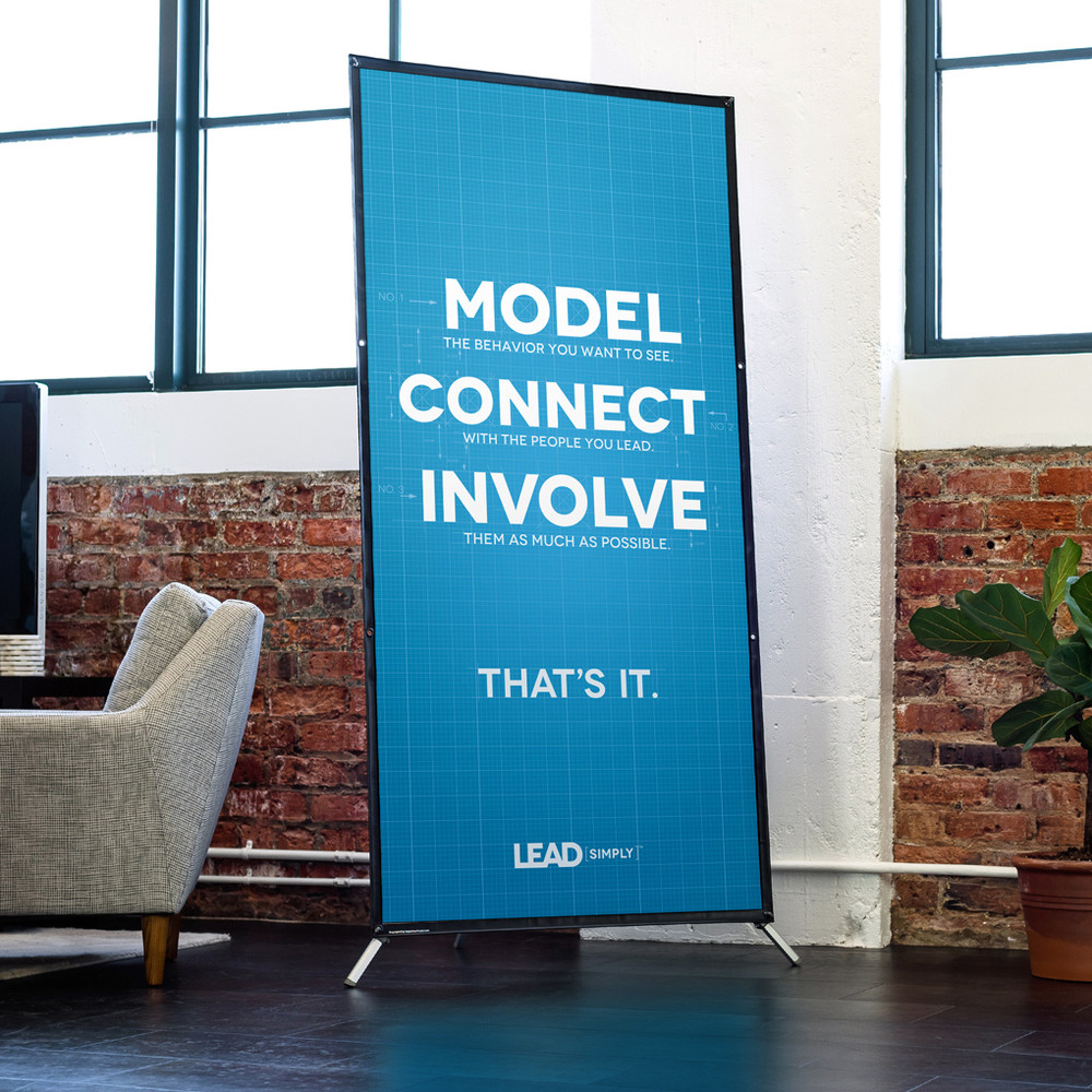 Lead Simply Blueprint 3 ft. x 6 ft. Banner