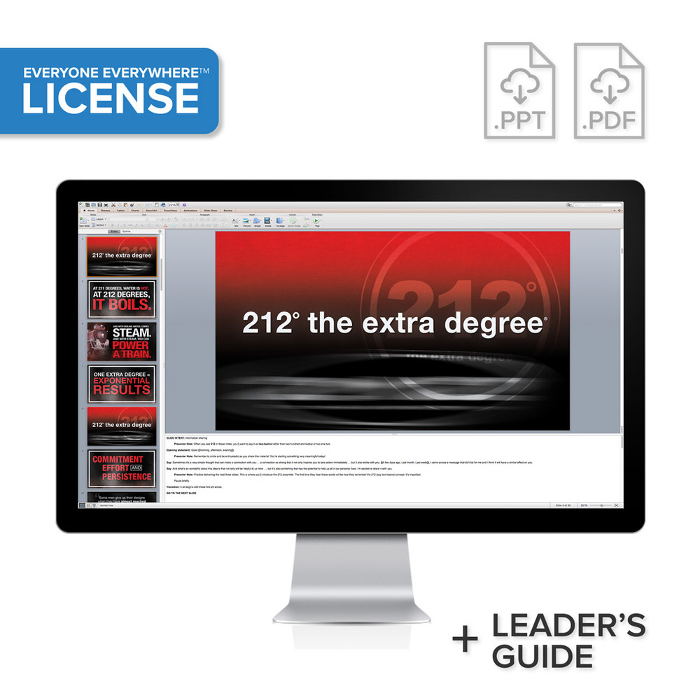 212° the extra degree PowerPoint® Presentation - License