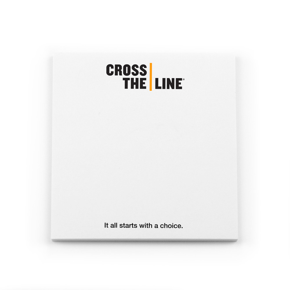 Cross The Line Post-it Notes